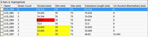Рис. 4. Дополнительная информация о цепи в панели PCB