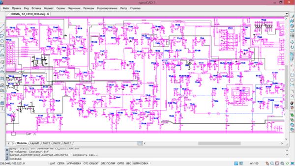Рис. 1. Пример исходного графического изображения схемы (схема как чертеж)