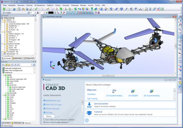 Беспилотный летательный аппарат - пример модели в интерфейсе системы проектирования