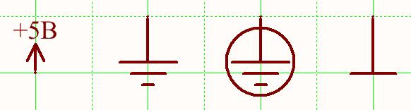 Символы обрыва цепей питания и земли, соответствующие ГОСТ