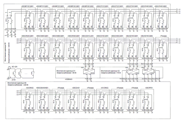 Реализованная схема электрическая принципиальная НКУ