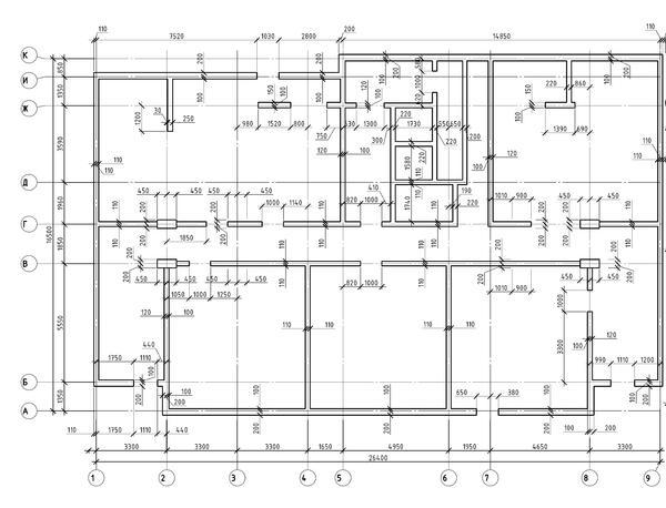 Фрагмент плана здания