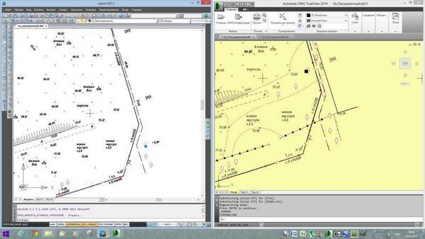 Отображение проблемного *.dwg-файла в nanoCAD и бесплатном просмоторщике (скриншот клиента)