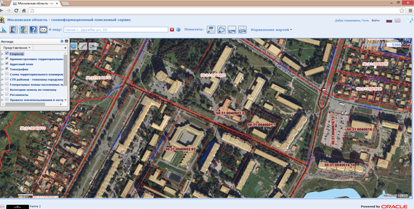 Использование высокоточных данных дистанционного зондирования в качестве одного из информационных слоев