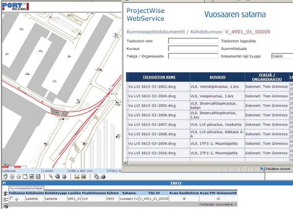 Картографический интерфейс системы обслуживания