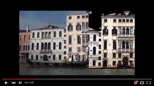 Пример использования облаков точек для автоматизированного анализа фасадов зданий в Венеции