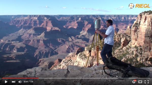 Практическое сканирование на примере создания трехмерной модели Большого каньона