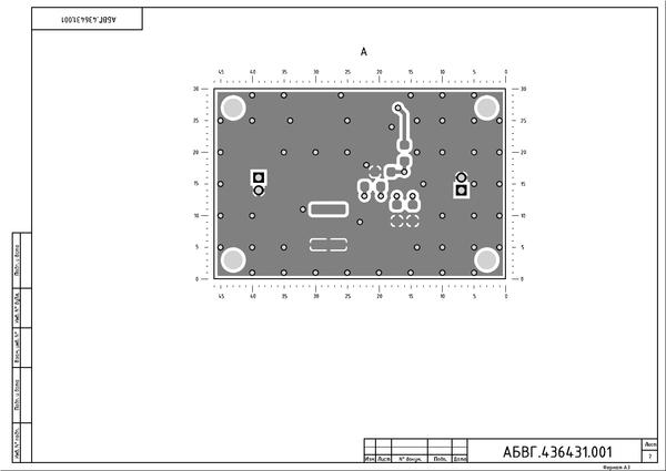Рис. 12. Второй лист чертежа платы после вывода в PDF