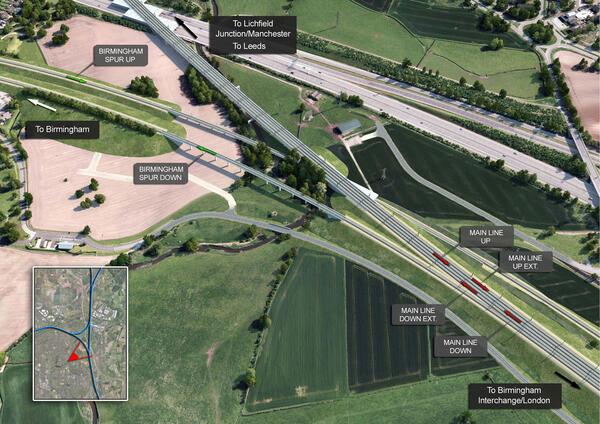 Проект «HS2 Birmingham Delta Junction» от Ineco с использованием решений Bentley (предоставлено: Bentley)