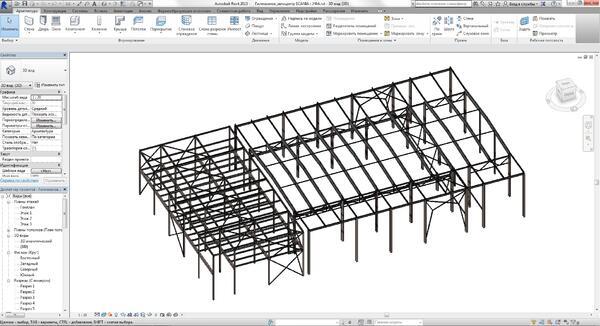 Конструктивная схема в Autodesk Revit