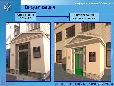 Лаборатория сварки МГТУ им. Н.Э. Баумана. Сравнение фото и модели объекта