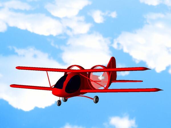 Модель самолета 2 (визуализация на фоне неба)