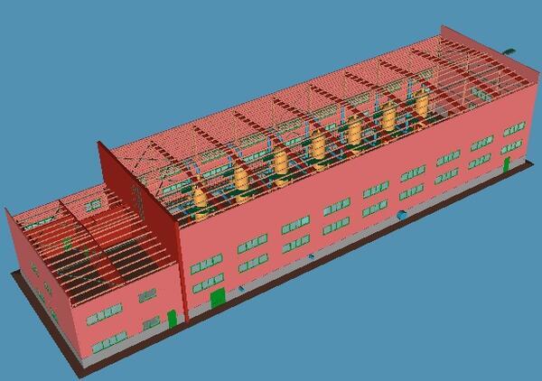 Пример создания модели промышленного объекта