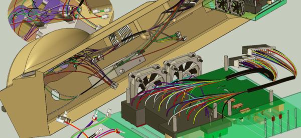 Рис. 9. Проектирование кабелей и жгутов в Solid Edge