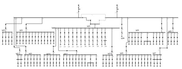 Рис. 3. Структурная схема сети в EnergyCS Электрика