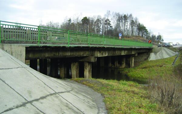 Рис. 1. Мост через реку Пажа, вид с низовой стороны до ремонта