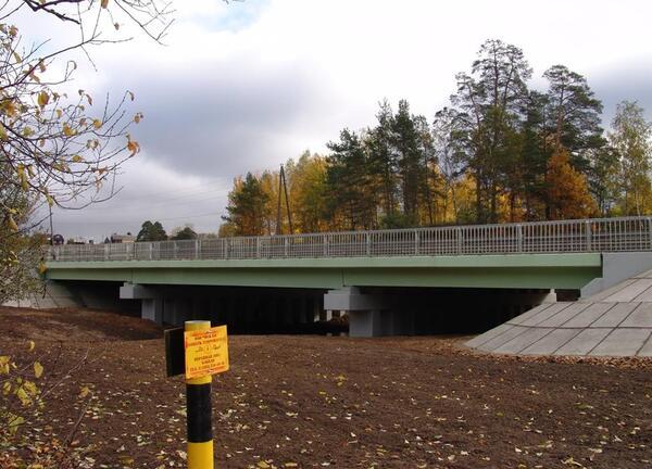 Рис. 3. Мост через реку Пажа, вид с низовой стороны после ремонта