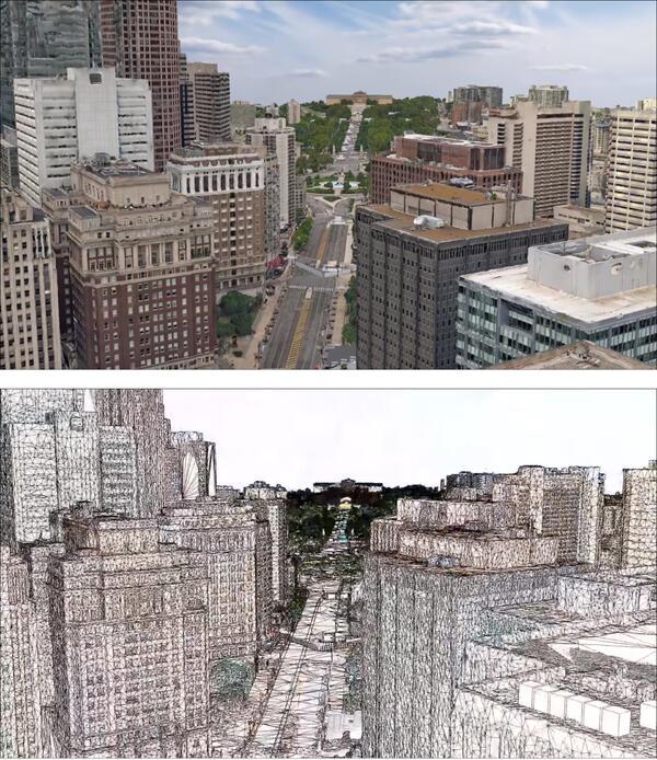Создание 3D-модели Филадельфии с помощью Contex Capture при подготовке к визиту Папы Римского
