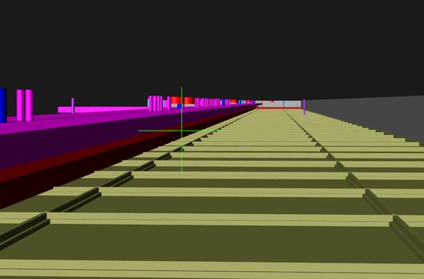 Рис. 5. С помощью навигации nanoCAD можно забраться в самые труднодоступные участки модели - например, за подвесной потолок, чтобы посмотреть, как коммуникации размещаются в замкнутом пространстве