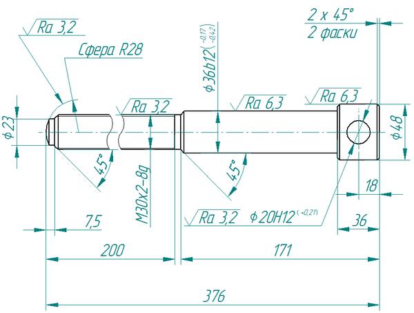 Рис. 4. Простановка размеров в Solid Edge