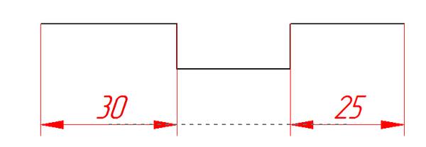 Рис. 5. Выравнивание размеров