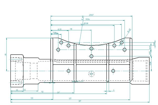 Рис. 6. Размеры, извлеченные из трехмерной модели