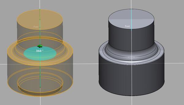 Рис. 5. Создание CAD-модели