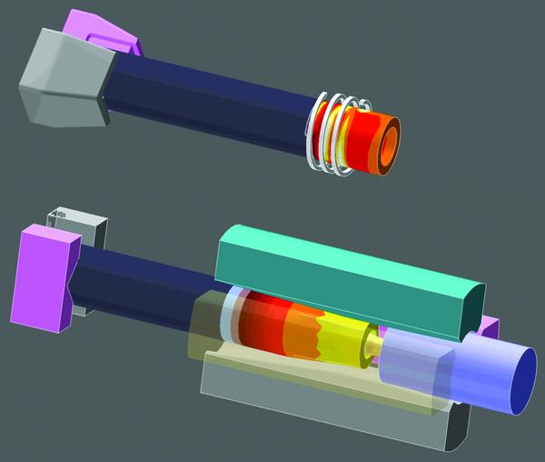 Моделирование двух этапов обработки: предварительного индукционного нагрева заготовки с последующим этапом радиальной ковки