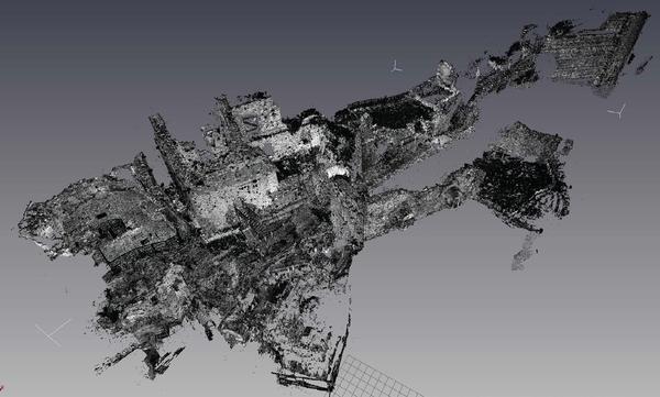 Рис. 2. Облако точек, обработанное программой Geovast 3D