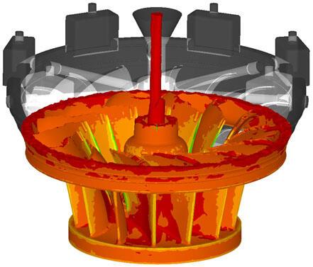 ProCAST. Заполнение формы расплавом (ОАО «Тушинский машиностроительный завод»)