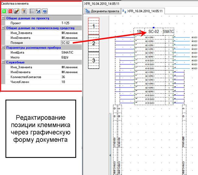 Редактирование модели проекта через ГФД