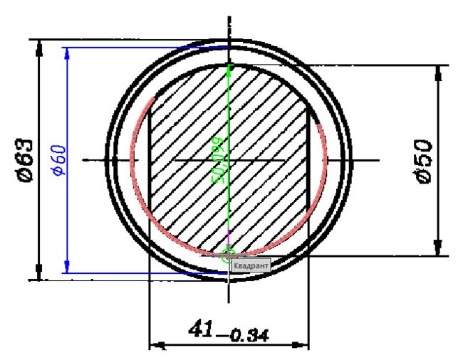 nanoCAD может привязываться к характерным точкам на растровых изображениях (Конечная точка, Середина, Центр, Квадрант окружности и т.д.)