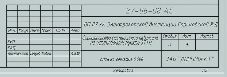 Образец заполнения конверта