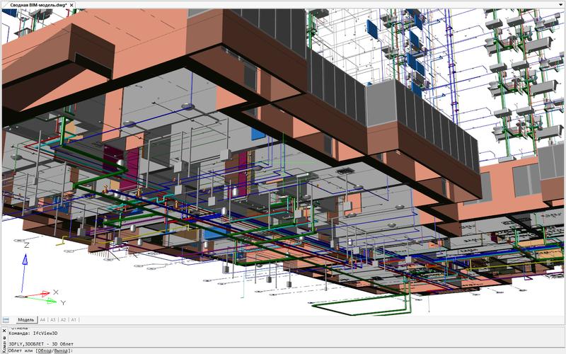 Рис. 10. Навигационные функции платформы nanoCAD Plus позволяют рассмотреть сводную BIM-модель с любых ракурсов