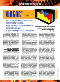 Журнал «ФОБОС» - интегрированная система технологической подготовки, оперативного планирования и диспетчерского контроля