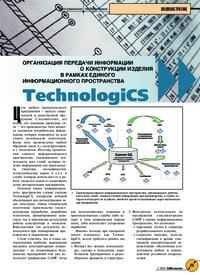 Журнал Организация передачи информации о конструкции изделия в рамках единого информационного пространства TechnologiCS