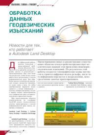 Журнал Обработка данных геодезических изысканий. Новости для тех, кто работает в Autodesk Land Desktop