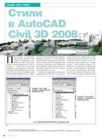 Журнал Стили в AutoCAD Civil 3D 2008