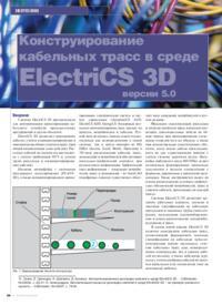 Журнал Конструирование кабельных трасс в среде ElectriCS 3D версии 5.0