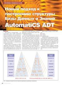 Журнал Новый подход к построению структуры Базы Данных и Знаний AutomatiCS ADT