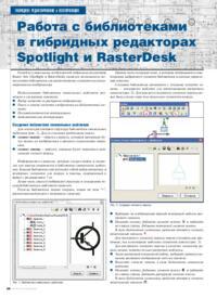 Журнал Работа с библиотеками в гибридных редакторах Spotlight и RasterDesk