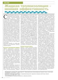 Журнал Жидкая теплоизоляция - мнимая эффективность