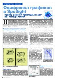 Журнал Оцифровка графиков в Spotlight. Пример решения прикладных задач при помощи ActiveX