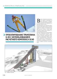 Журнал Проектирование трамплина К-90 с использованием расчетного комплекса SCAD