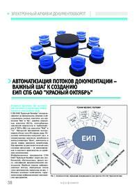 Журнал Автоматизация потоков документации - важный шаг к созданию ЕИП СПб ОАО Красный Октябрь