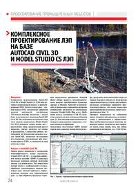 Журнал Комплексное проектирование ЛЭП на базе AutoCAD Civil 3D и Model Studio CS ЛЭП