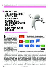 Журнал MSC Nastran Embedded Fatigue – интеграция и ускорение инженерных расчетов в области прочности и долговечности изделий