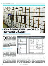 Журнал Новый функционал nanoCAD 6.0: нормативный аудит