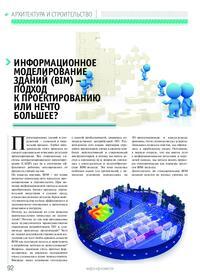 Журнал Информационное моделирование зданий (BIM) – подход к проектированию или нечто большее?