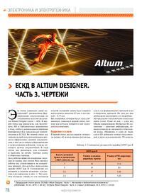 Журнал ЕСКД в Altium Designer. Часть 3. Чертежи